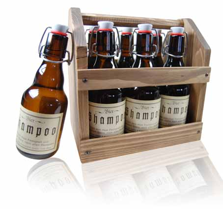 Biershampoo in cooler Aufmachung