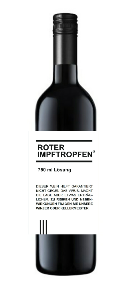 roter IMPFTROPFEN